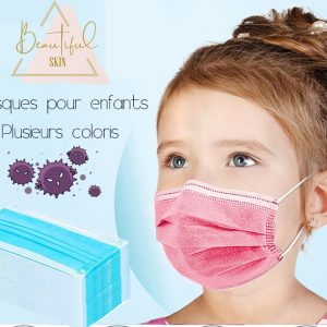 Masque chirurgical jetable enfant