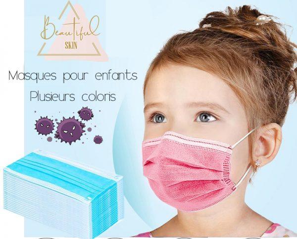 Masque chirurgical jetable enfant